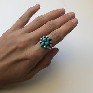 Jewelry - Sterling silver, turquoise & mother of pearl ring